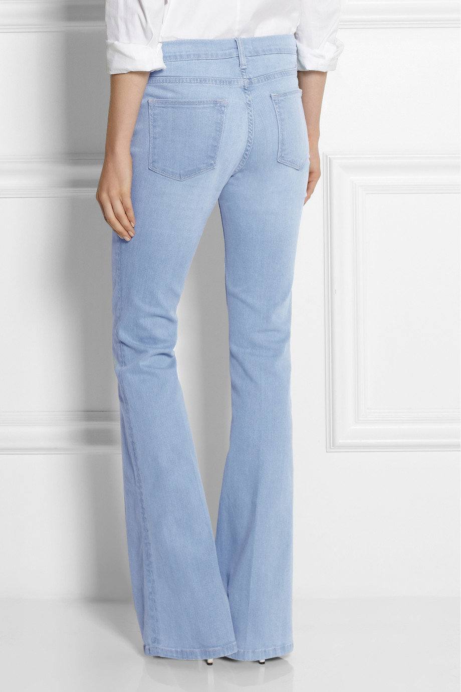 Frame Le High Flare High Rise Jeans In Blue Lyst