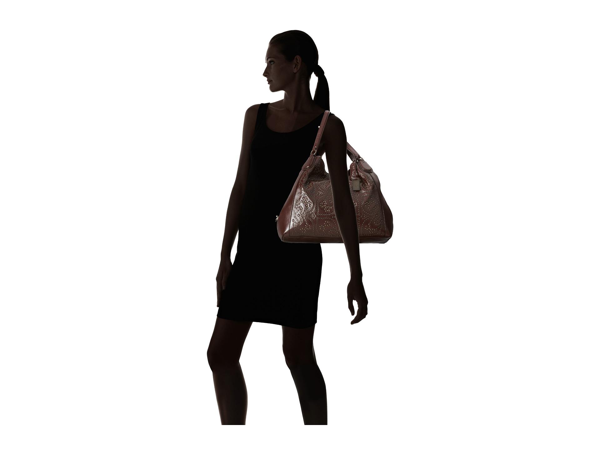 683433906a1e7 ... amazon lyst coach mini stud large edie shoulder bag in purple dd883  3efbb