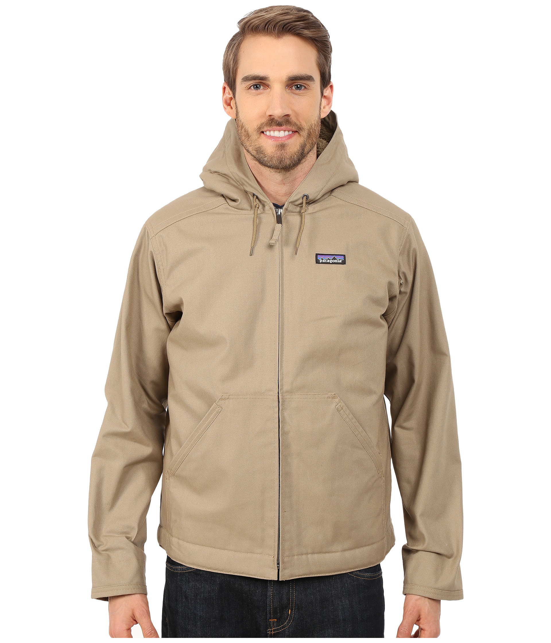 Patagonia Lined Canvas Hoodie In Gray For Men Lyst
