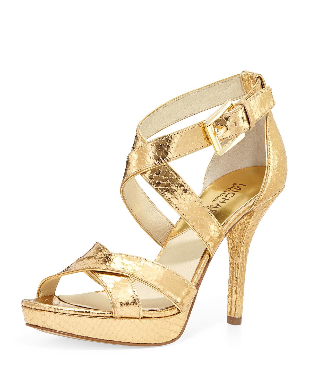 Michael Kors Shoes Gold Heel