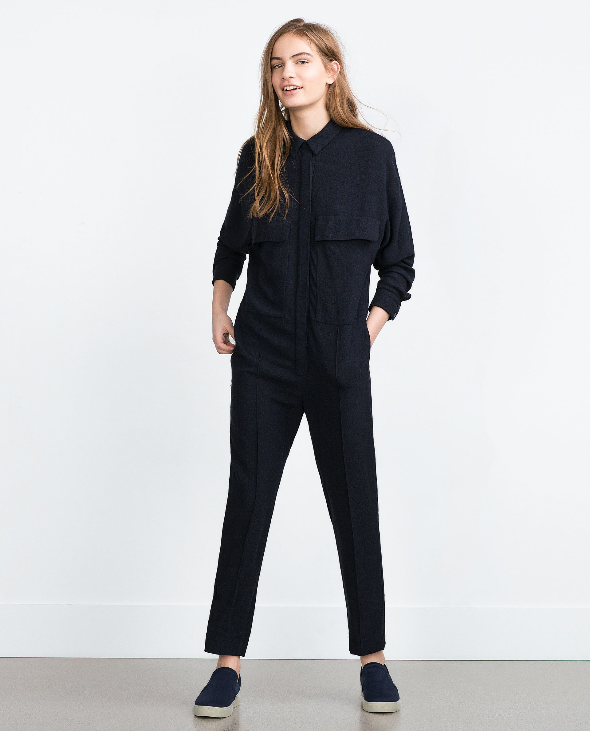 Luxury Zara Jumpsuit In Natural  Lyst