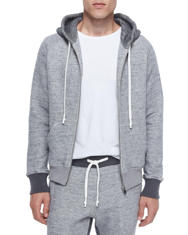 Zippered Hoodie Knitting Pattern : Maison margiela Knit Zip-up Hoodie in Gray for Men Lyst