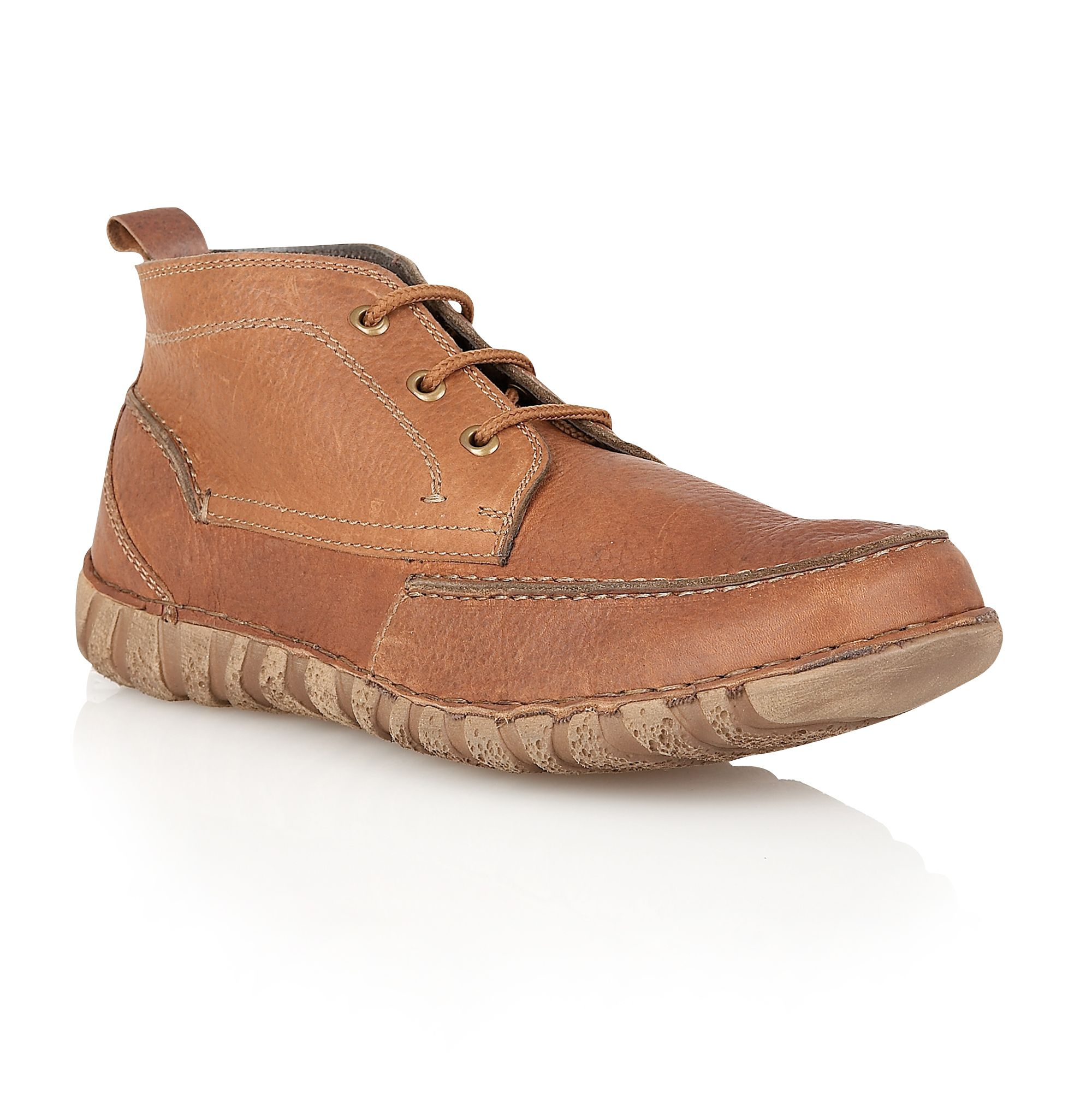 lotus nuneaton lace up casual chukka boots in brown for