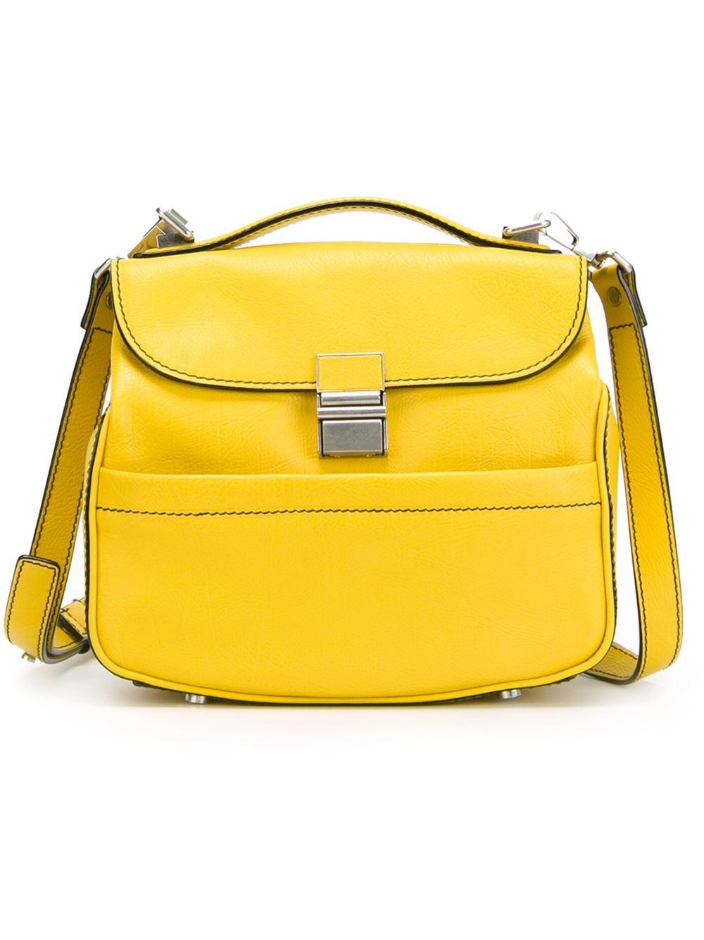 proenza schouler mini kent crossbody bag in yellow