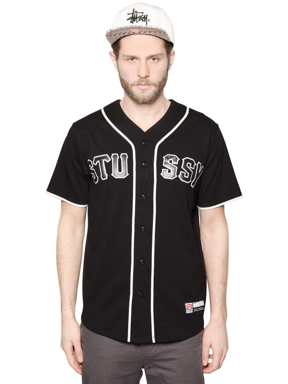 baseball t shirt stussy