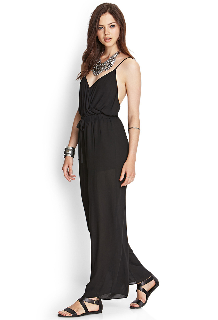 faaa0af2041c Lyst - Forever 21 Contemporary Crossback Surplice Jumpsuit Youu0026 39 ve  Been Added To