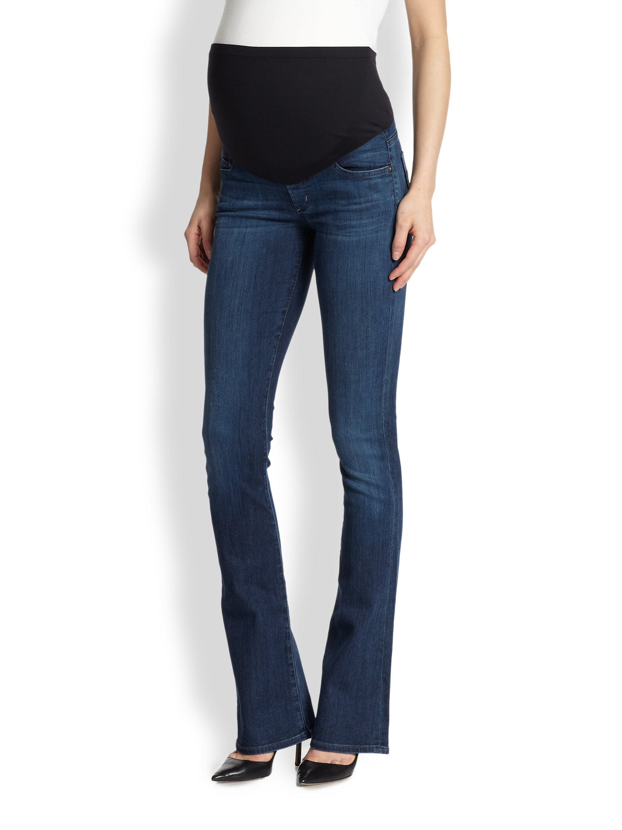 Skinny bootcut maternity jeans