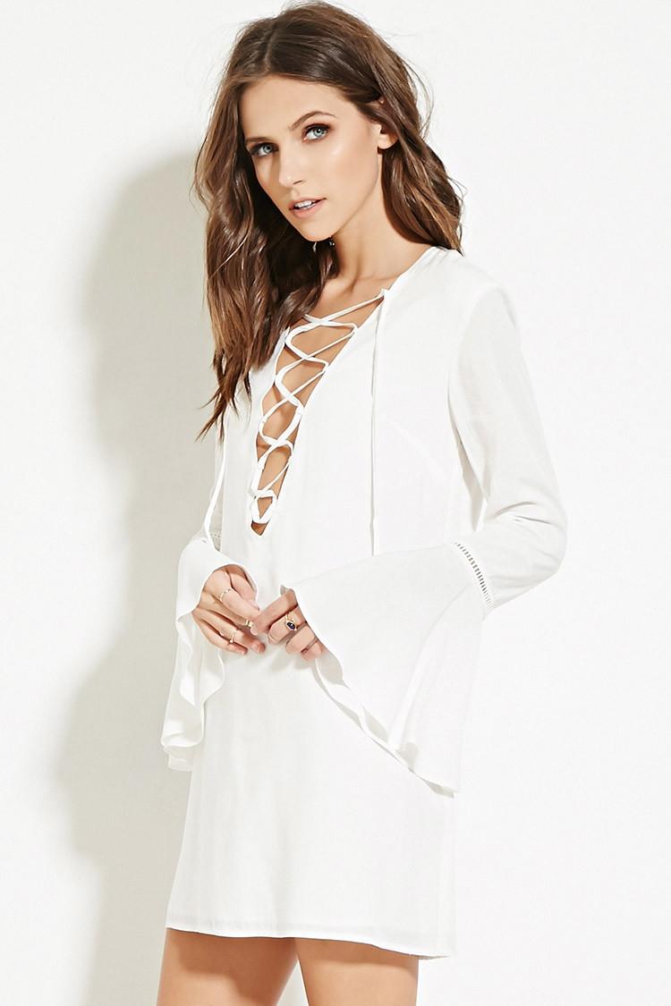5ecbc97c802 Long Sleeve Lace Dress Forever 21 - Data Dynamic AG