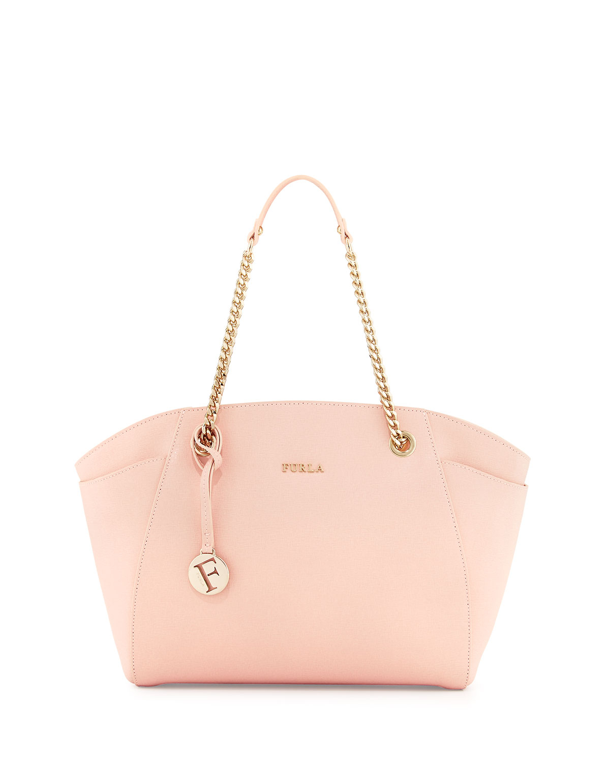 998a7a2e948a Lyst - Furla Julia East-West Leather Tote Bag in Pink