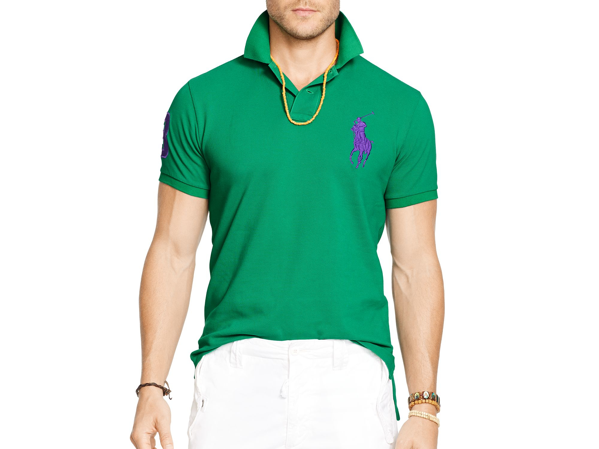 1855a0d956e1 Ralph Lauren Polo Custom-fit Big Pony Mesh Polo Shirt - Slim Fit in ...