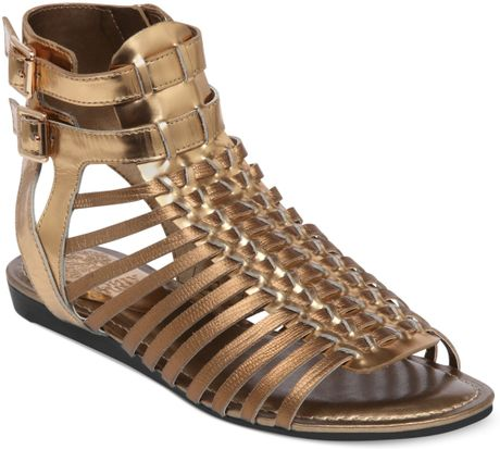 Vince Camuto Kensil Gladiator Sandals In Gold Copper Lyst