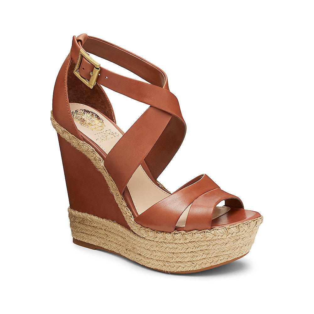 8e1c57900 Lyst - Vince Camuto Marcela - Strappy Platform Wedge Sandal in Brown