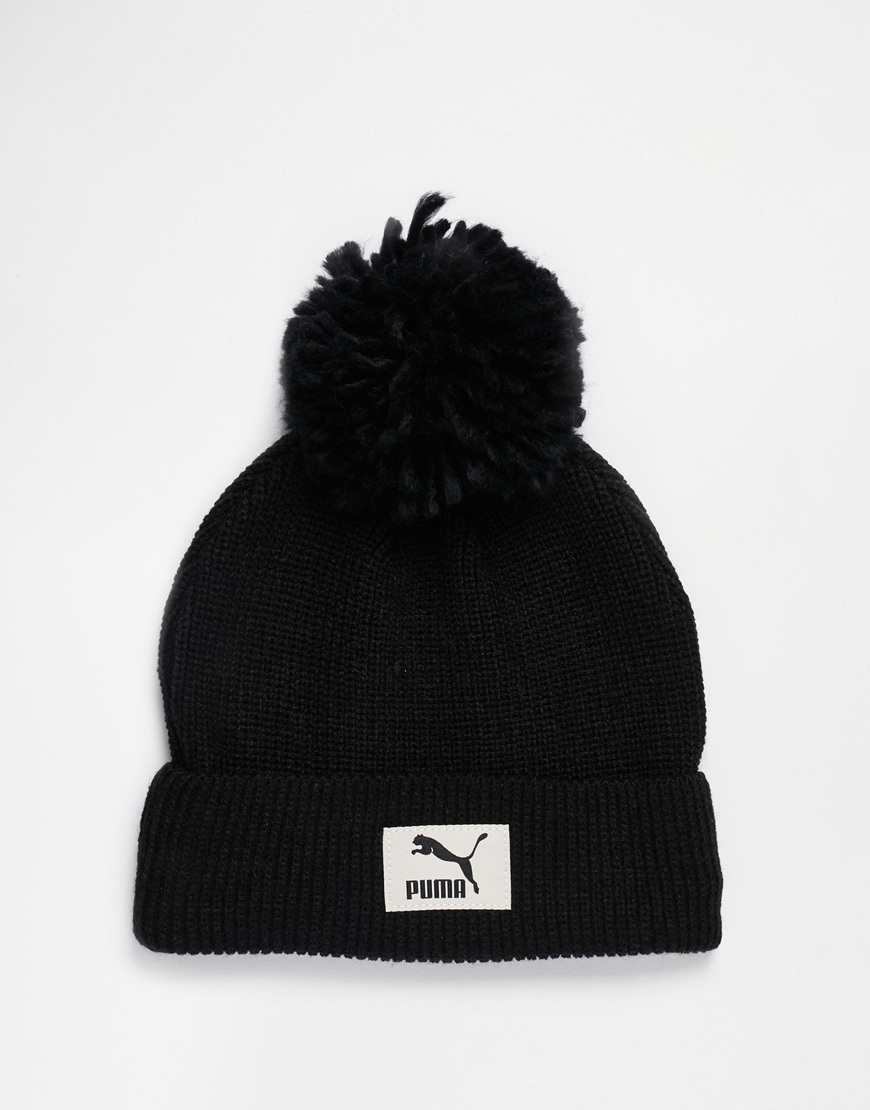 Puma Pom Beanie in Black for Men - Lyst 9ce39fd7c19