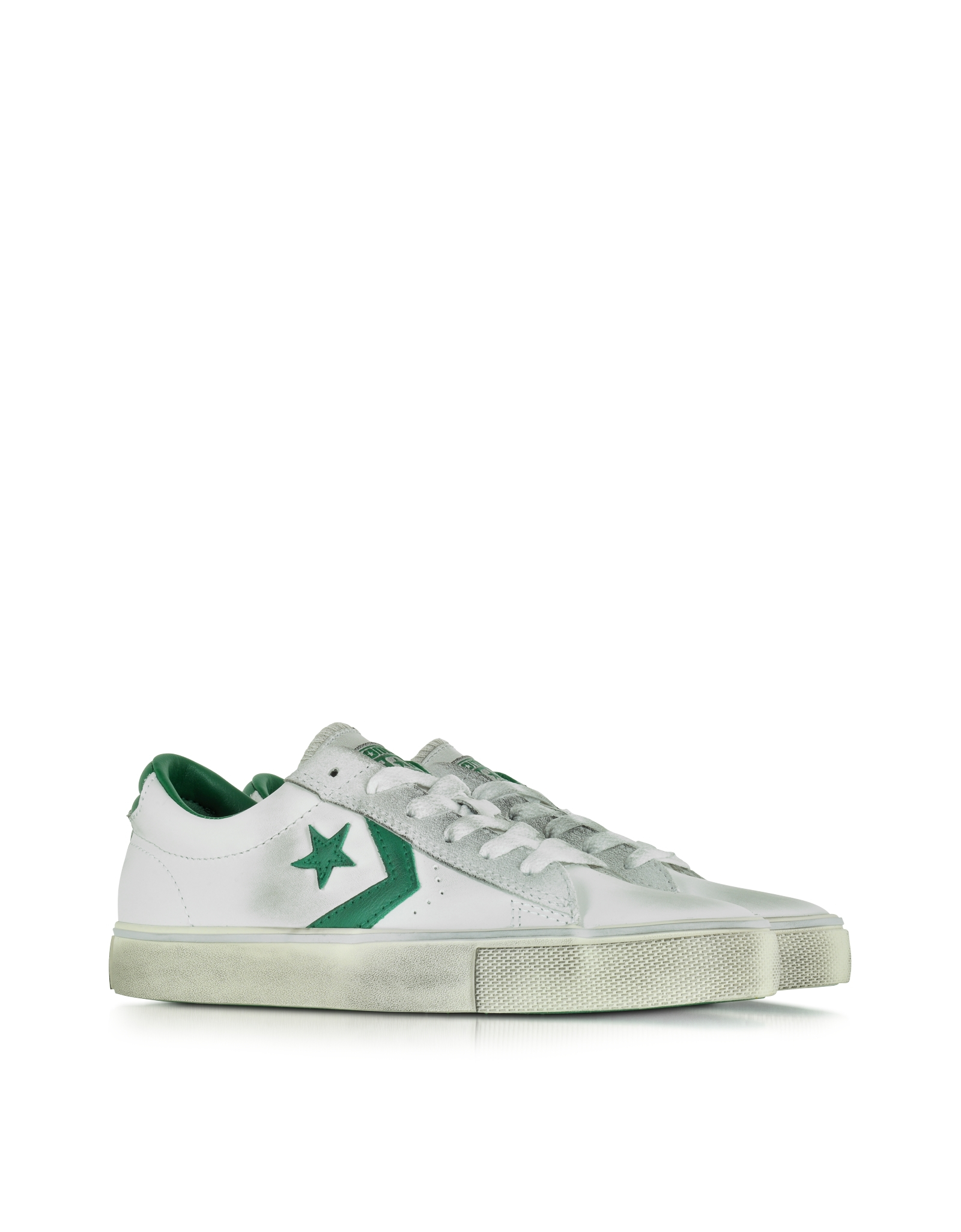 f0a84ec2c077cd Lyst - Converse Pro Leather Vulc Ox Off White Distressed Leather ...
