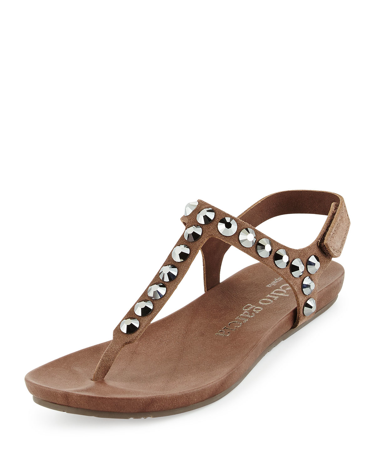 4a8a9146af7924 Pedro Garcia Judith Studded-Suede Sandals in Brown - Lyst