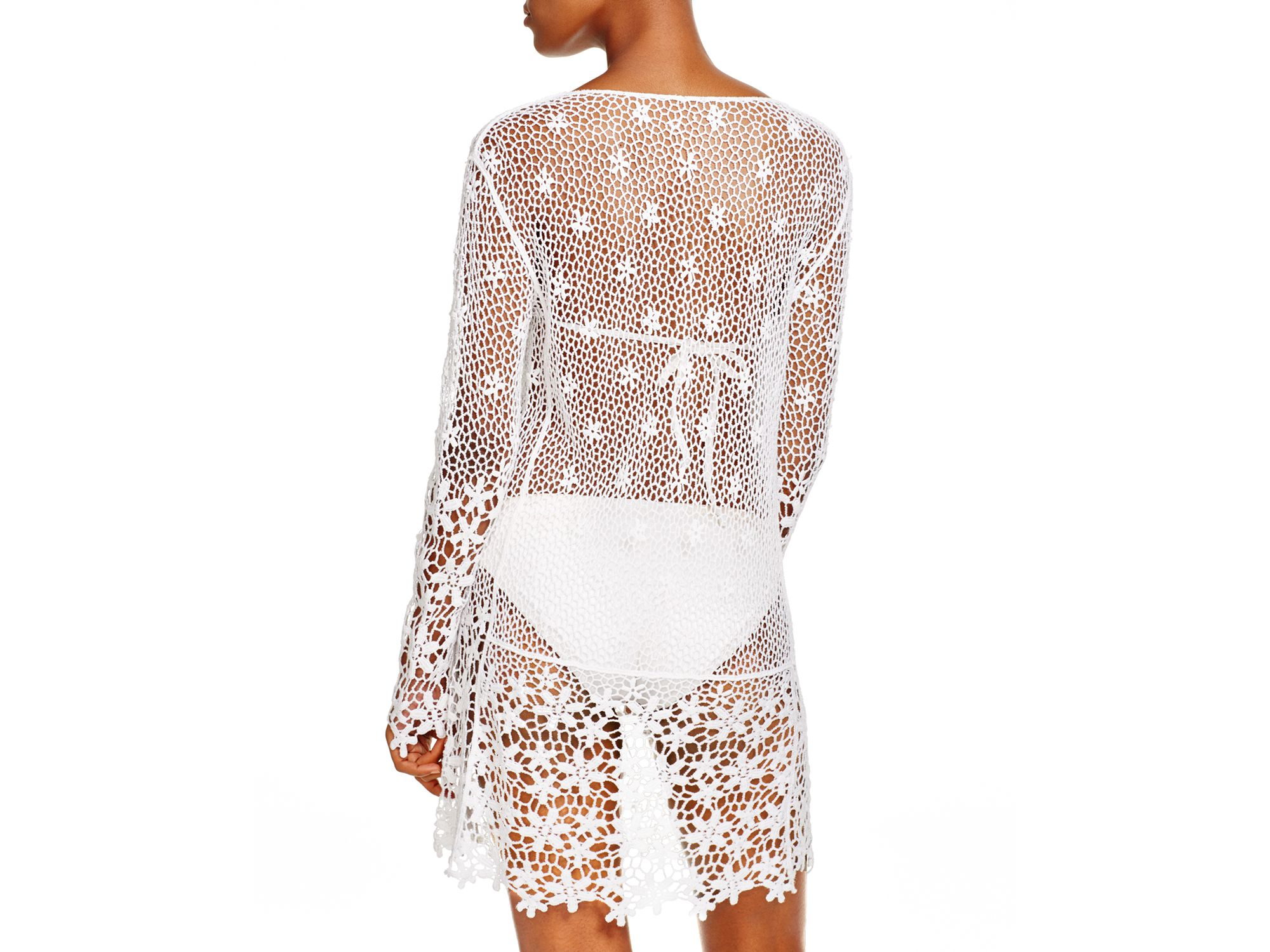 ba2ec2a74d J Valdi Crochet Cotton Mini Dress in White - Lyst
