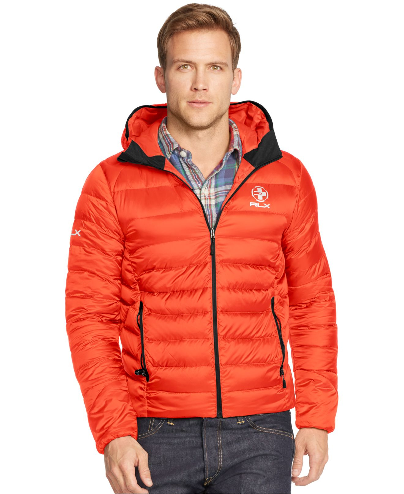 cdac4f691 ... coupon code for lyst polo ralph lauren rlx explorer down jacket in  orange for men b939b