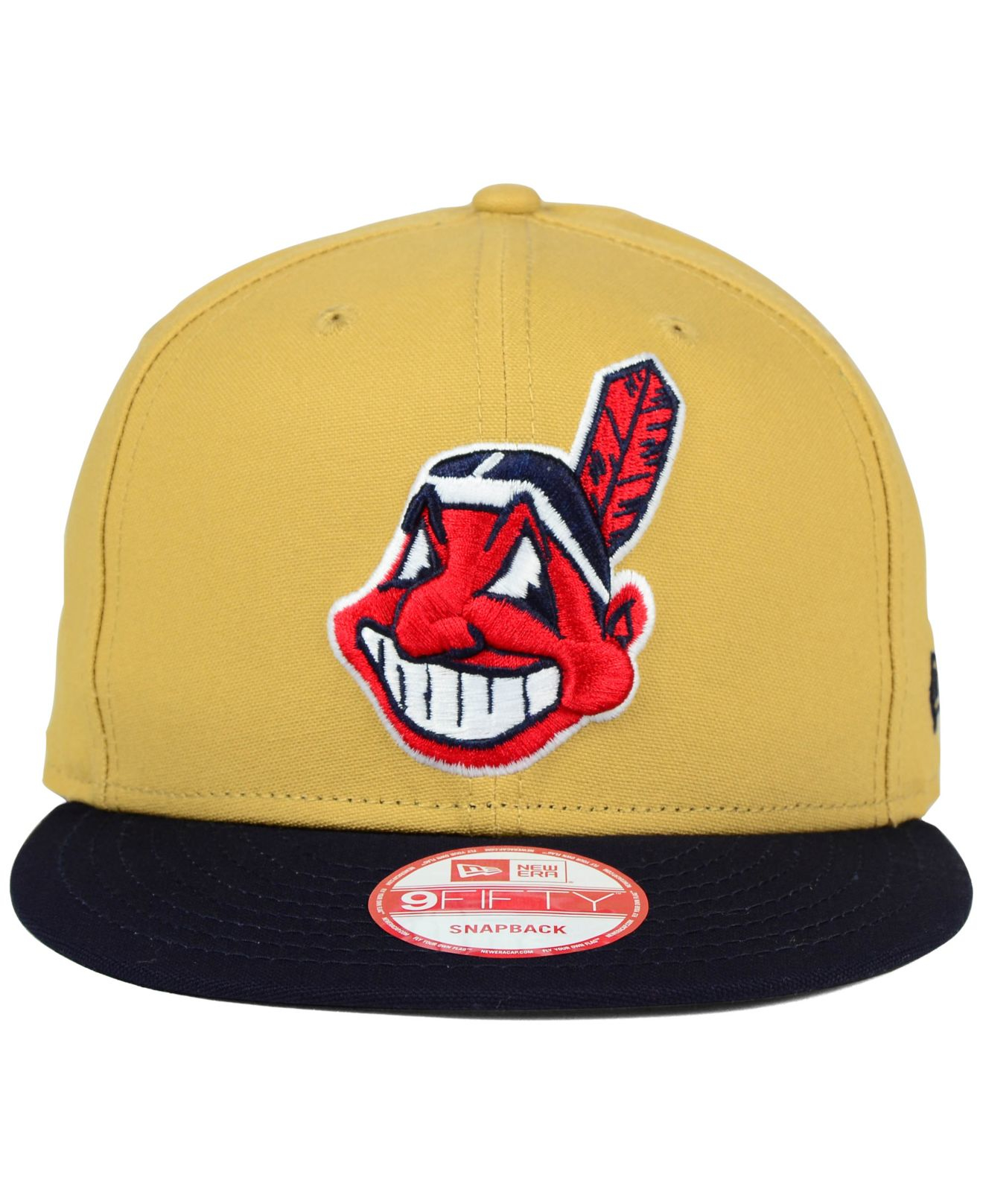 official photos 78872 3ebc9 ... france lyst ktz cleveland indians classic canvas 9fifty snapback cap in  3f2b7 db0a5