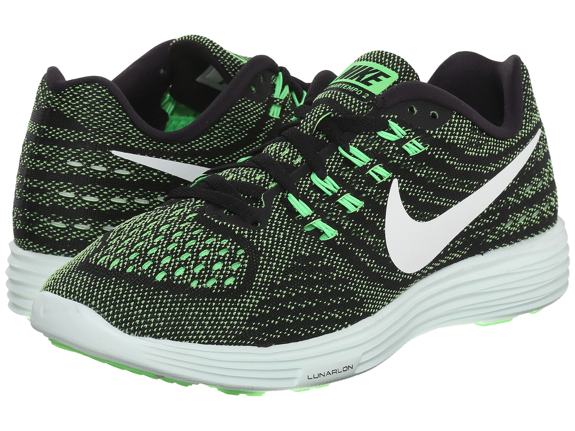 Nike Lunartempo 2 Print Sz 10 Photo Blue Green Lunar Lunarglide