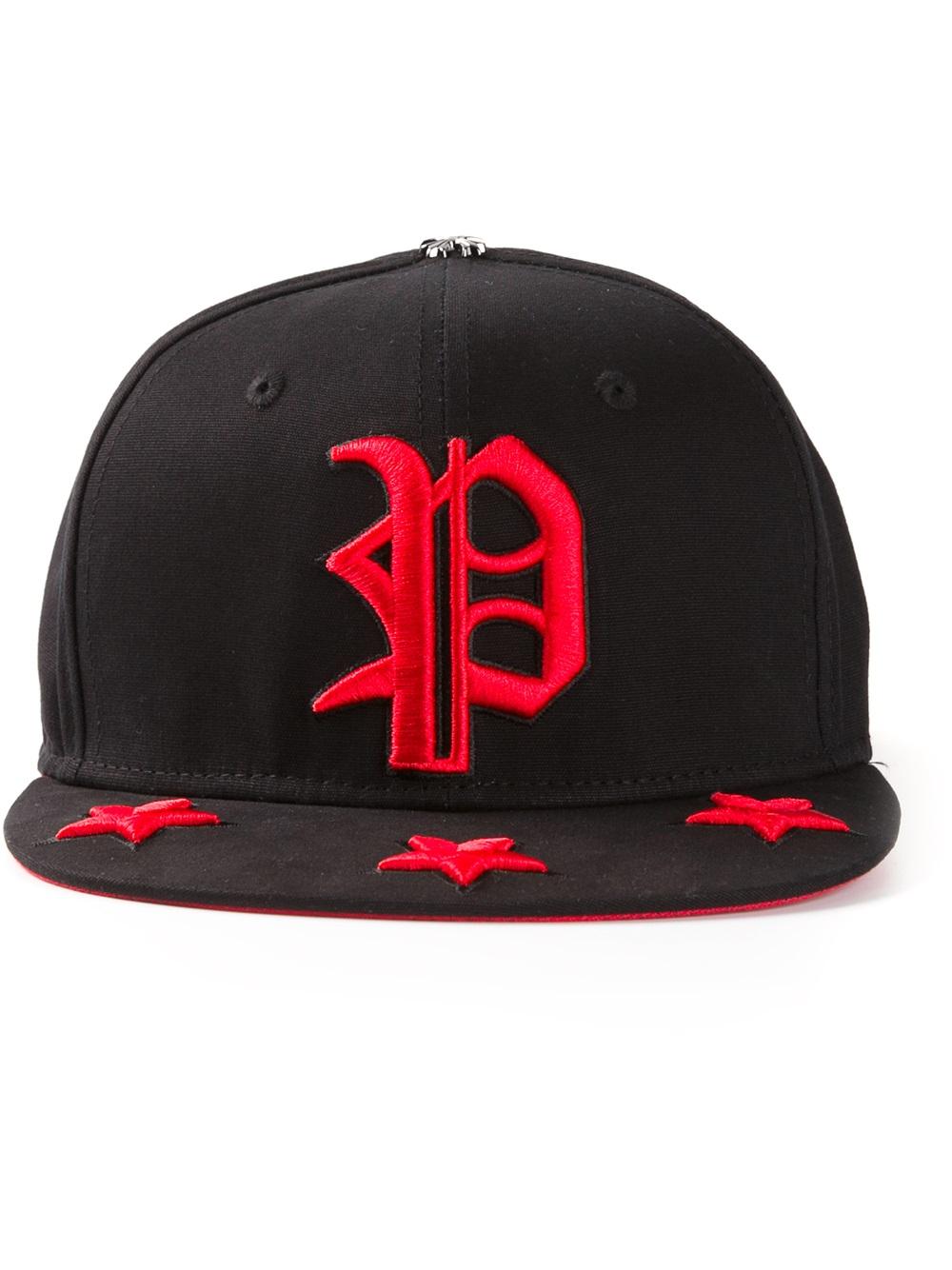 352d7ea4490 Lyst - Philipp Plein Embroidered Logo Baseball Cap in Black for Men