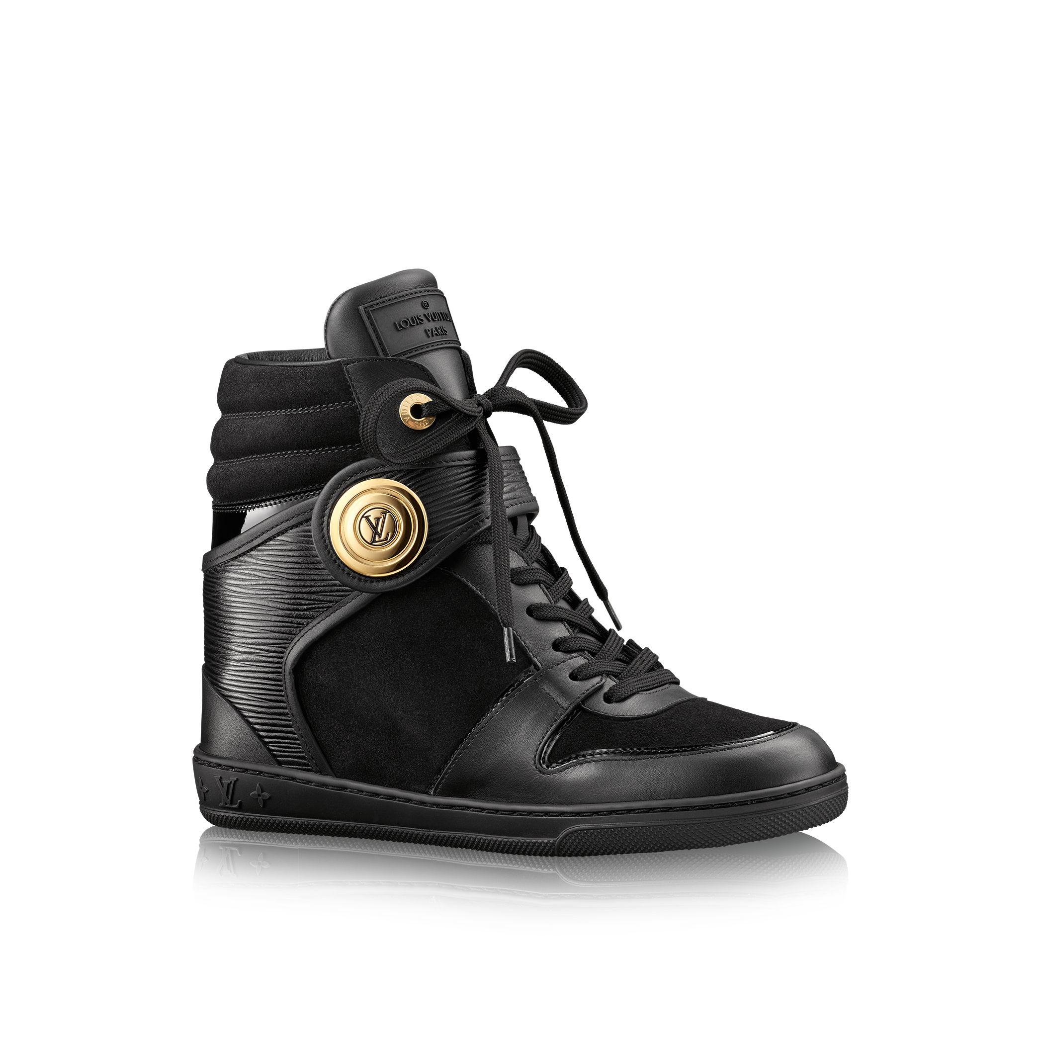louis vuitton postmark sneaker boot in black lyst