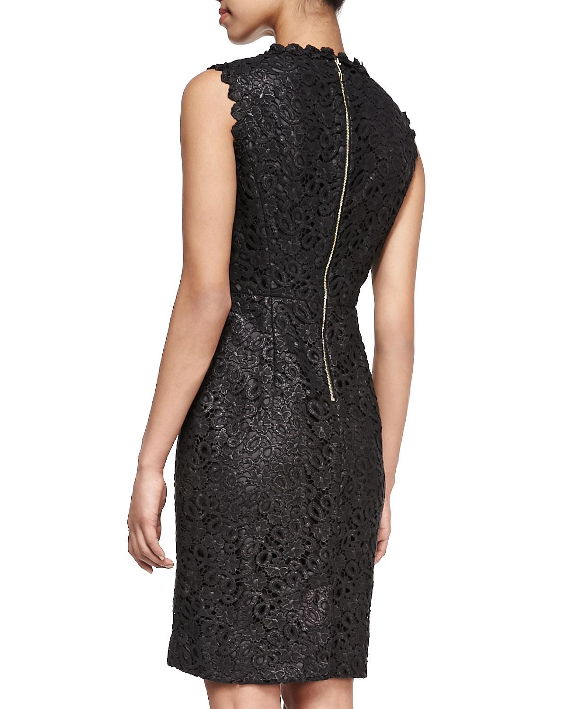 lyst kate spade new york sleeveless lace sheath dress