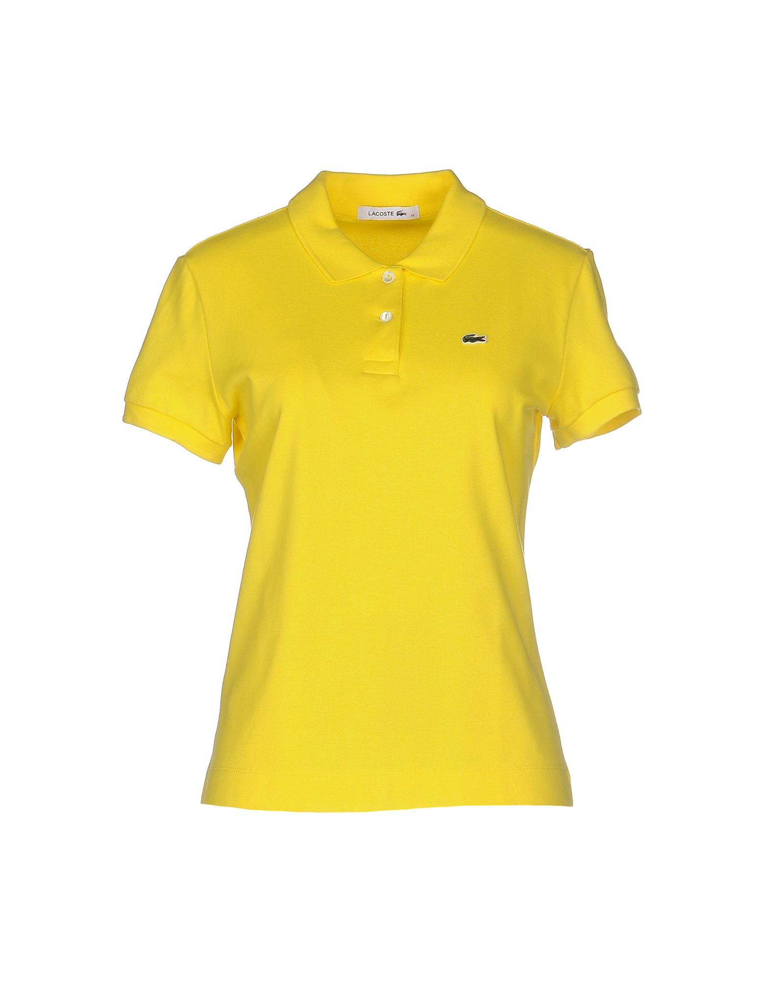 lacoste polo shirt in yellow lyst. Black Bedroom Furniture Sets. Home Design Ideas