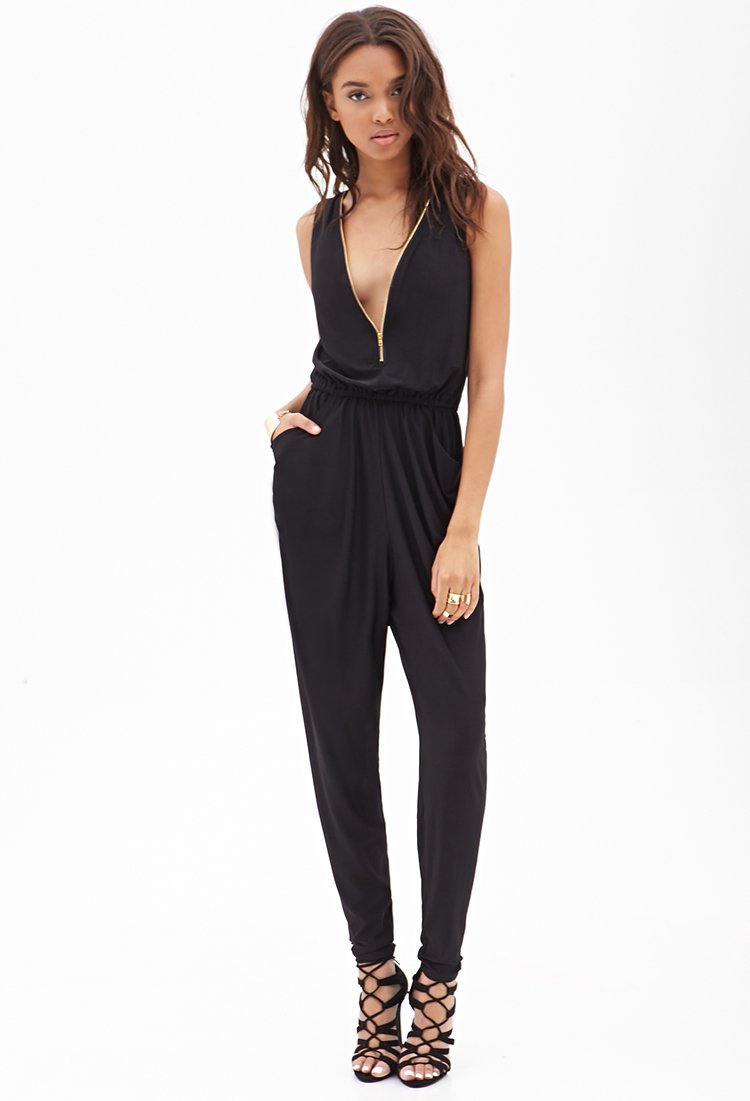 Excellent Rompers Jumpsuits Collared Surplice Jumpsuit Rompers Jumpsuits