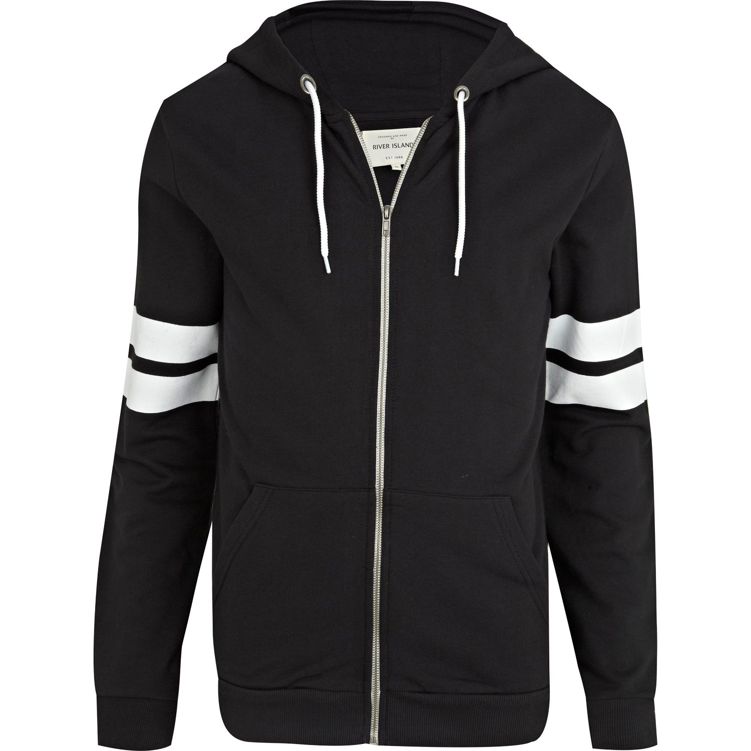 Black and white striped hoodie