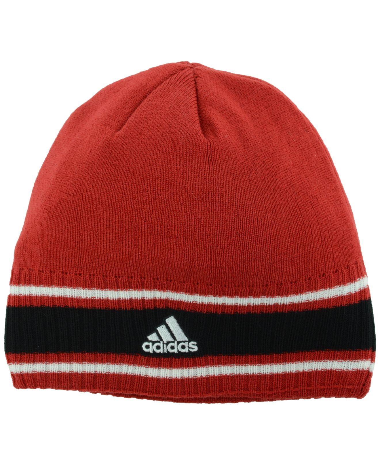 d45c459dfd1 Lyst - Adidas Louisville Cardinals Coaches Cuffless Knit Hat in Red ...