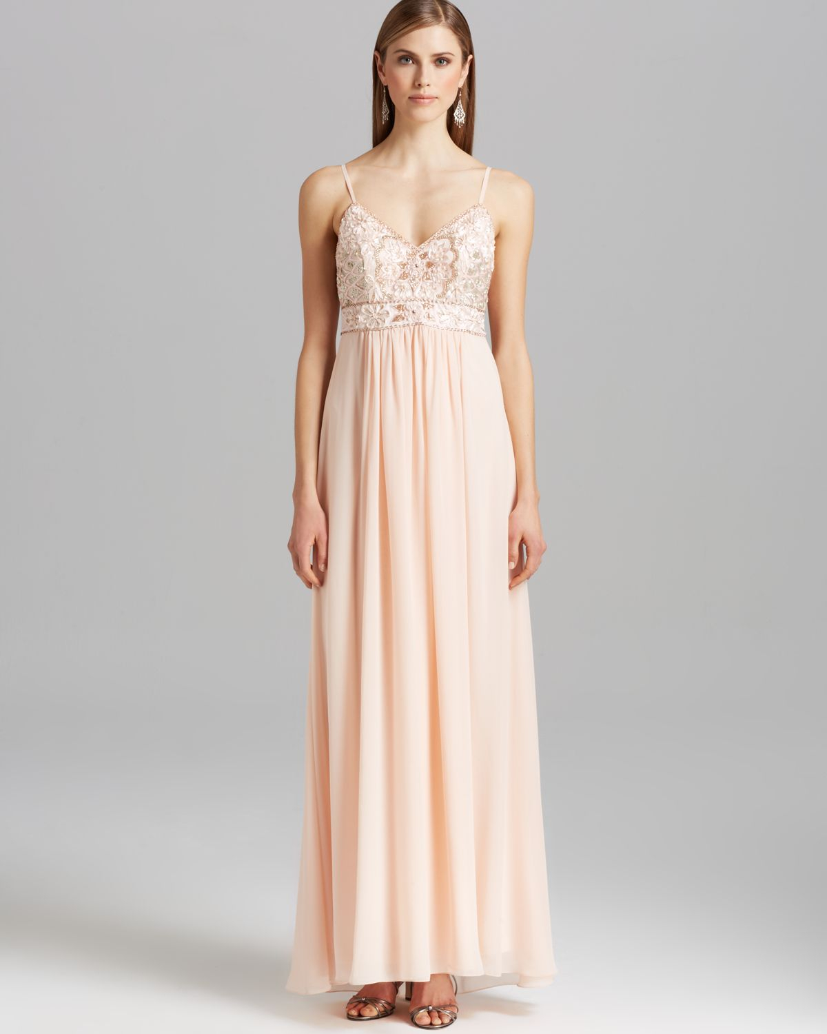 Sue wong Gown - Chiffon Skirt in Pink | Lyst