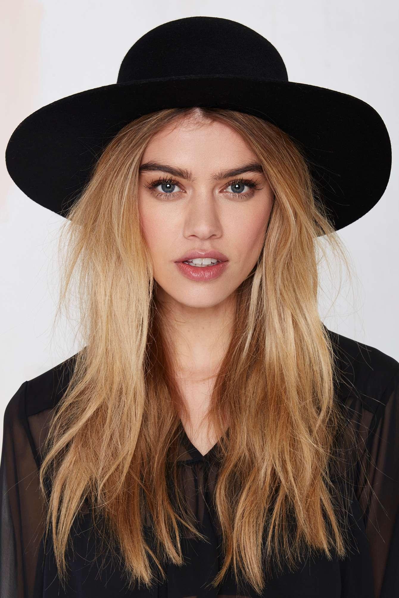 d597d6c28d777 Nasty Gal Brixton Magdalena Wool Hat in Black - Lyst