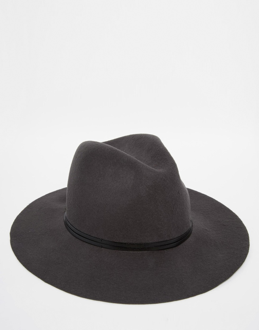 2a257baea5ee3 Catarzi Wide Brim Unstructured Fedora Hat in Gray for Men - Lyst