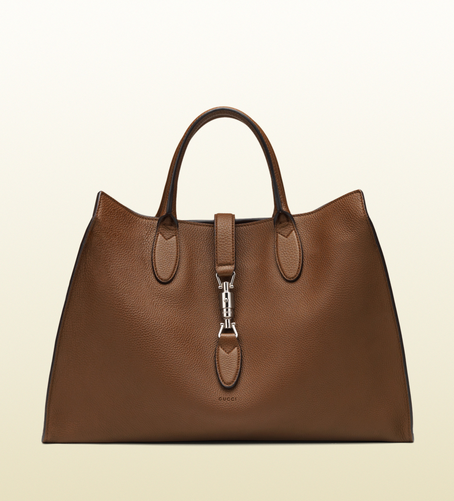 Gucci Jackie Soft Leather Top Handle Bag In Brown Lyst