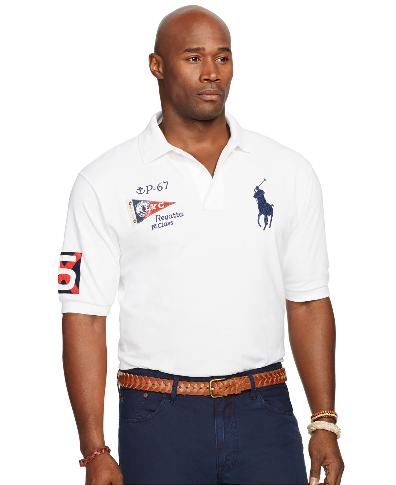 polo ralph lauren big and tall classic mesh polo shirt in