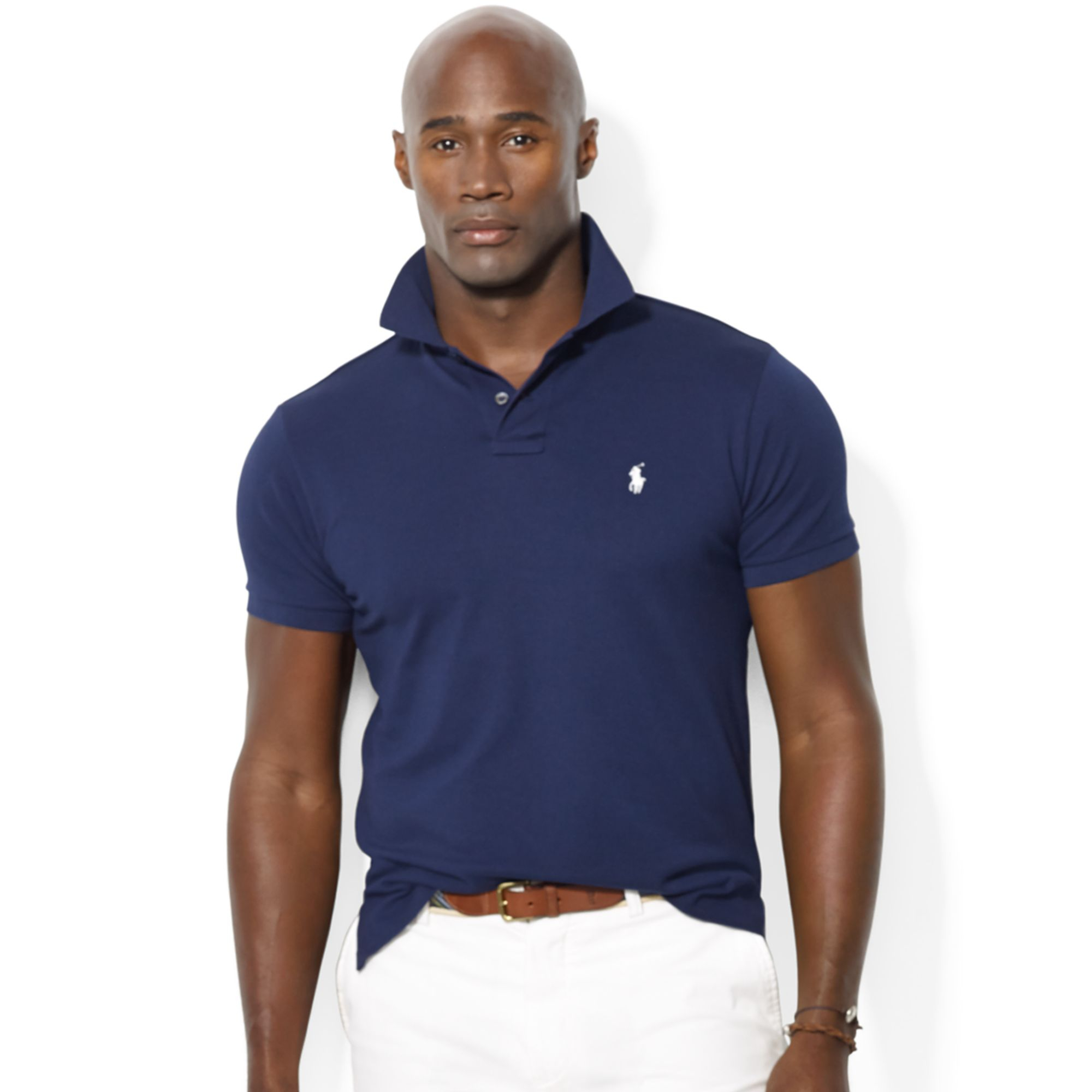 fe730c98 Polo Ralph Lauren Classic Fit Stretch Mesh Polo in Blue for Men - Lyst