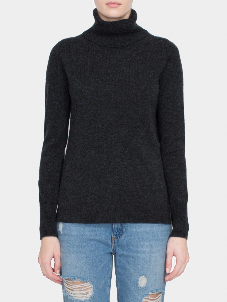 Lyst - White + Warren Essential Cashmere Turtleneck in Gray