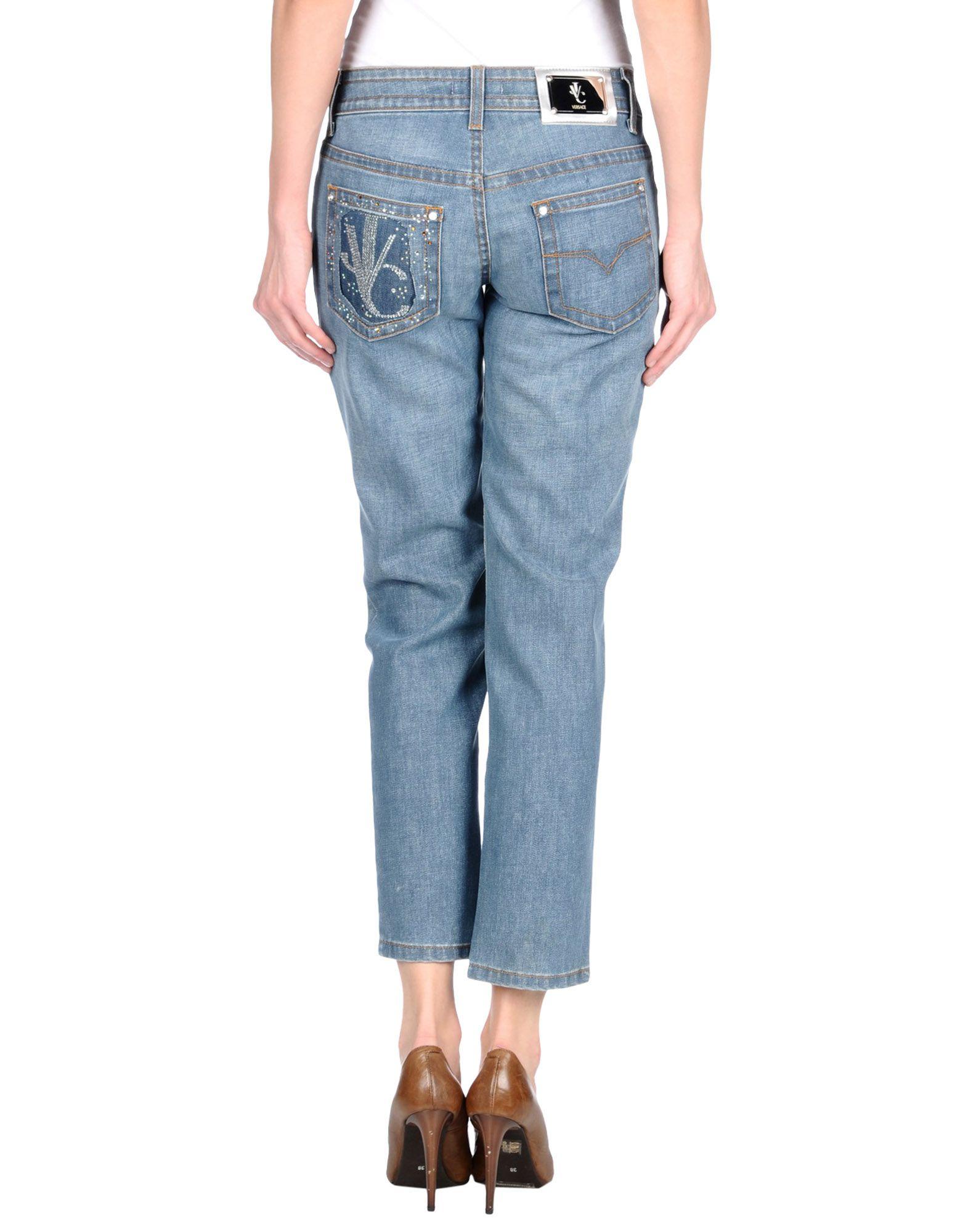 Lyst Versace Jeans Denim Trousers In Blue