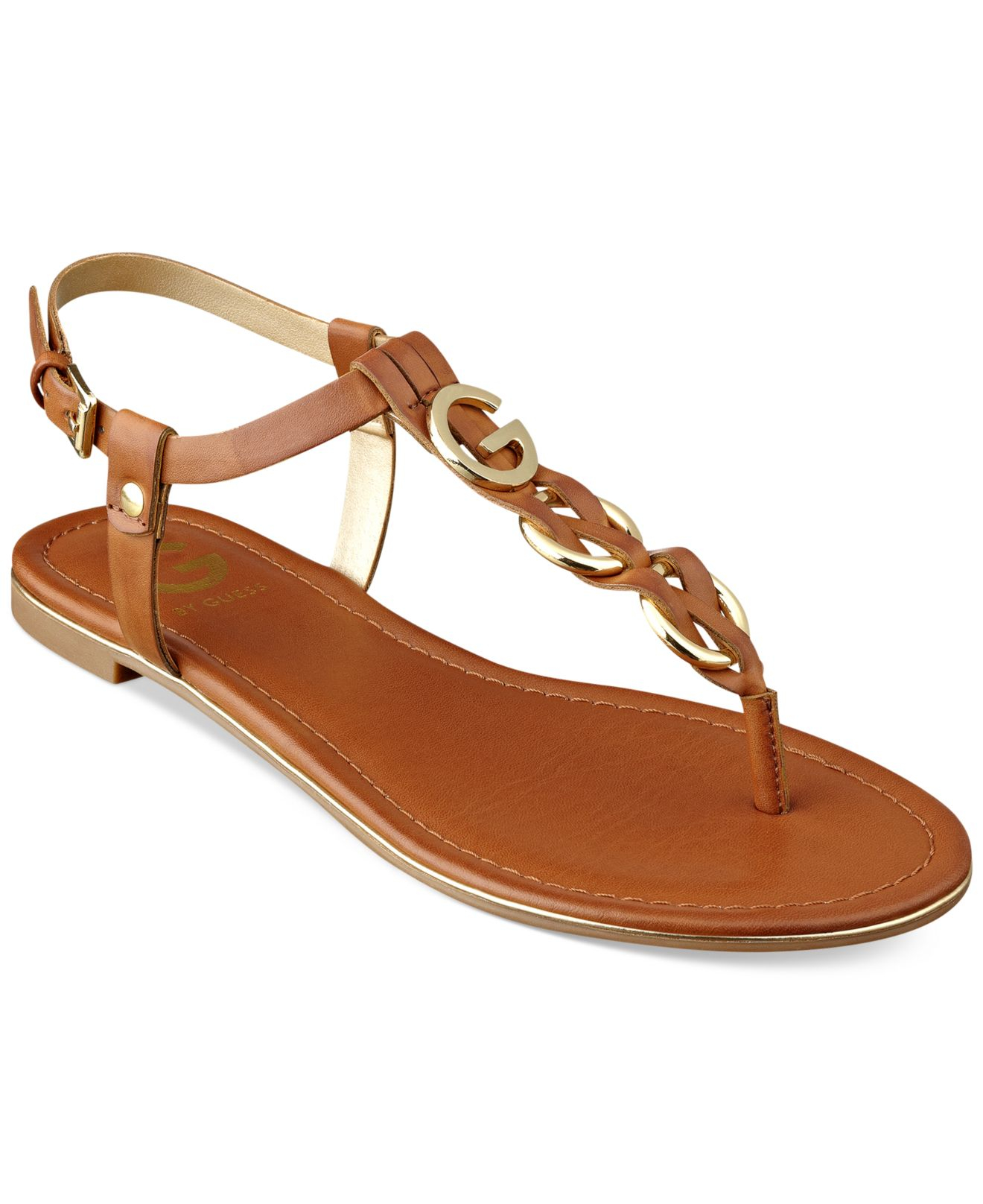 Brilliant Guess Womens Shoes Edelina Platform Sandals In Brown  Lyst