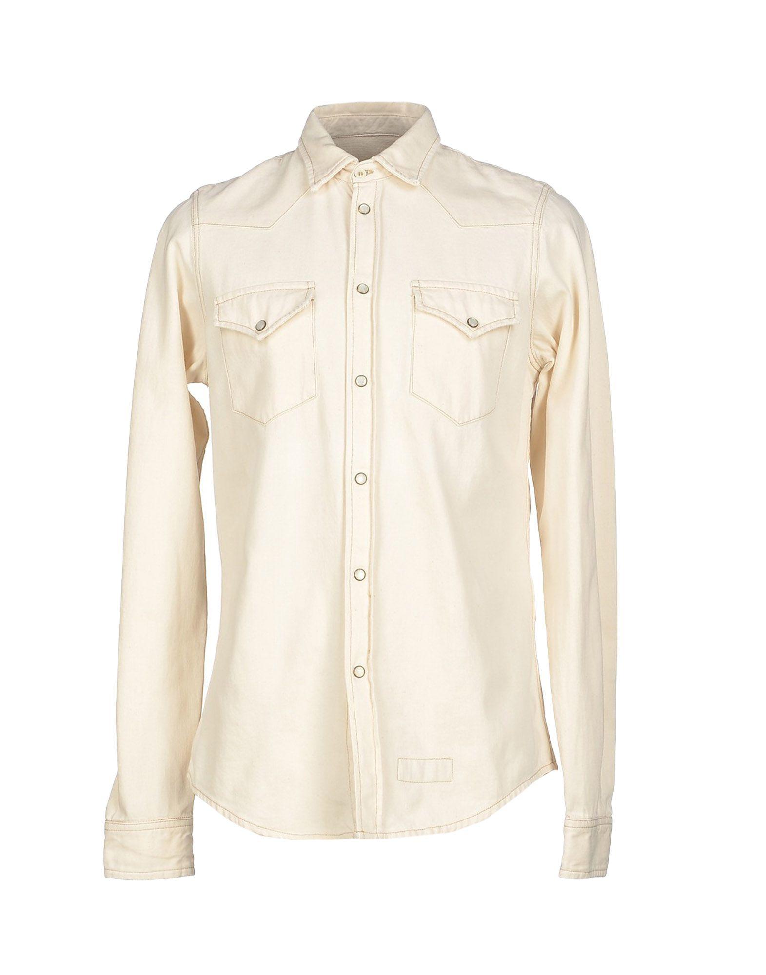 Lyst Roy Rogers Denim Shirt In White For Men