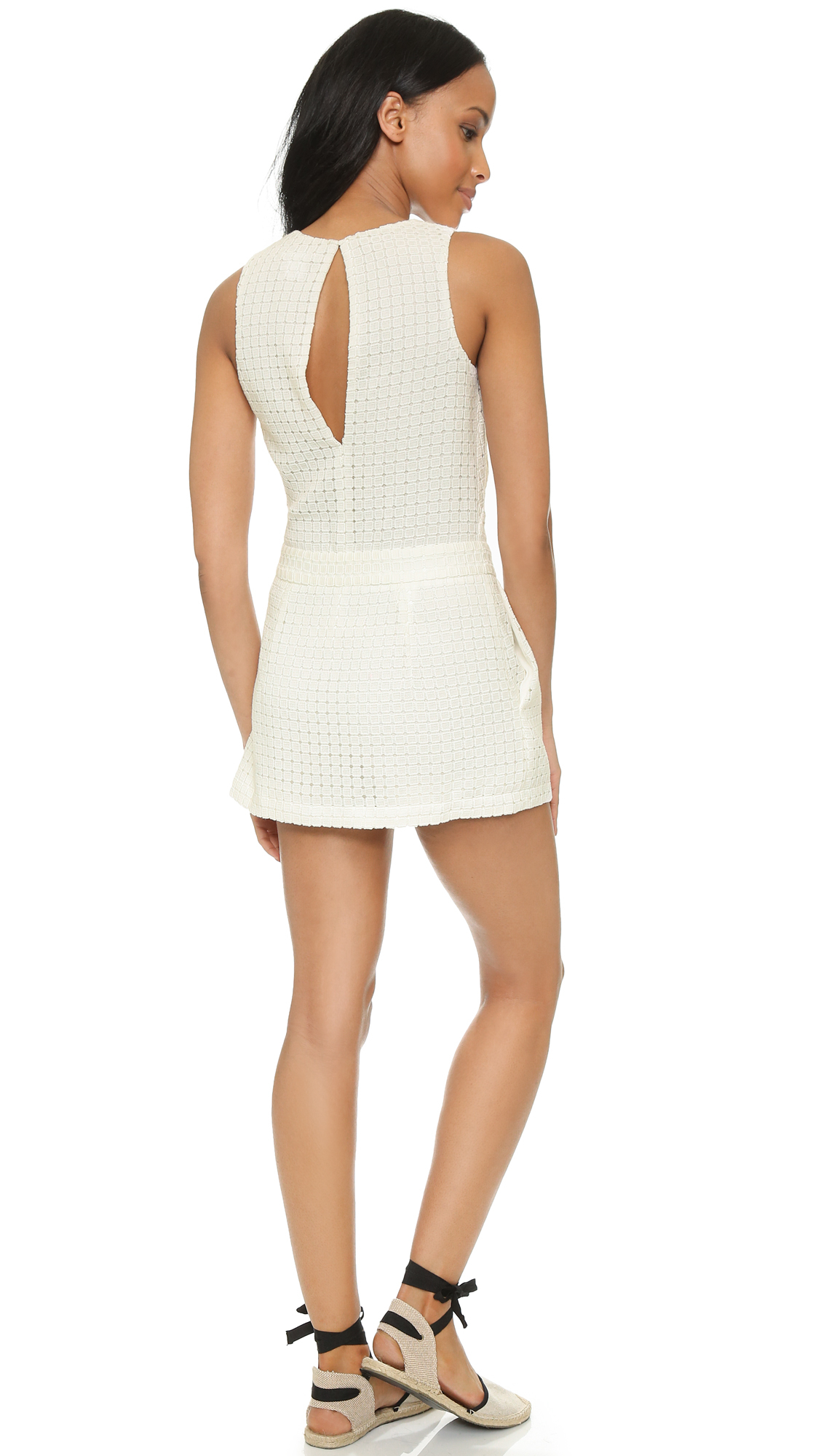 353988172088 Lyst - Club Monaco Verlise Romper in White