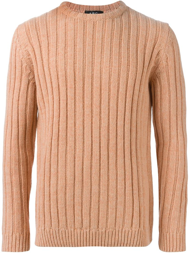 A.p.c. Ribbed Sweater in Purple for Men | Lyst