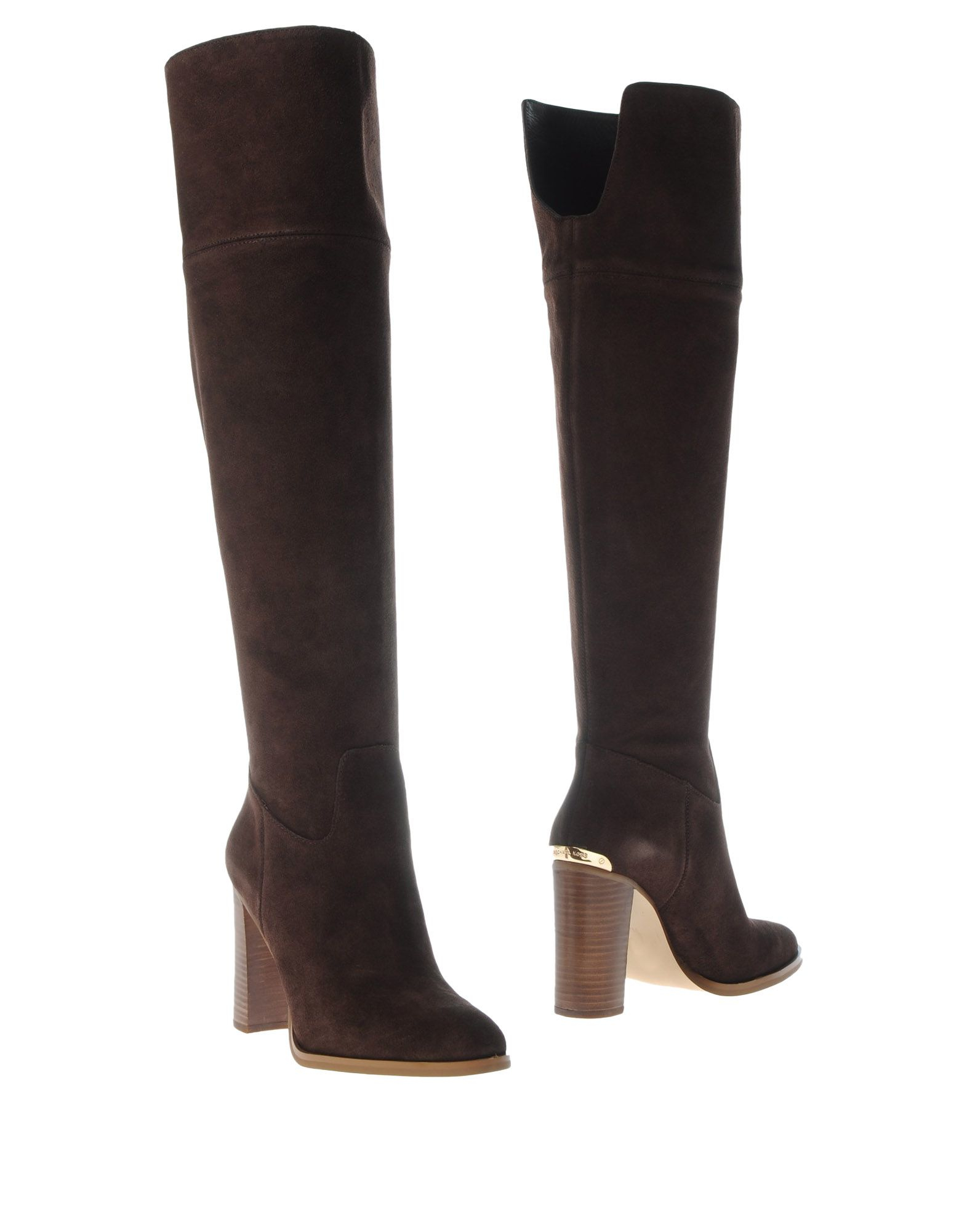 michael michael kors brown boots lyst