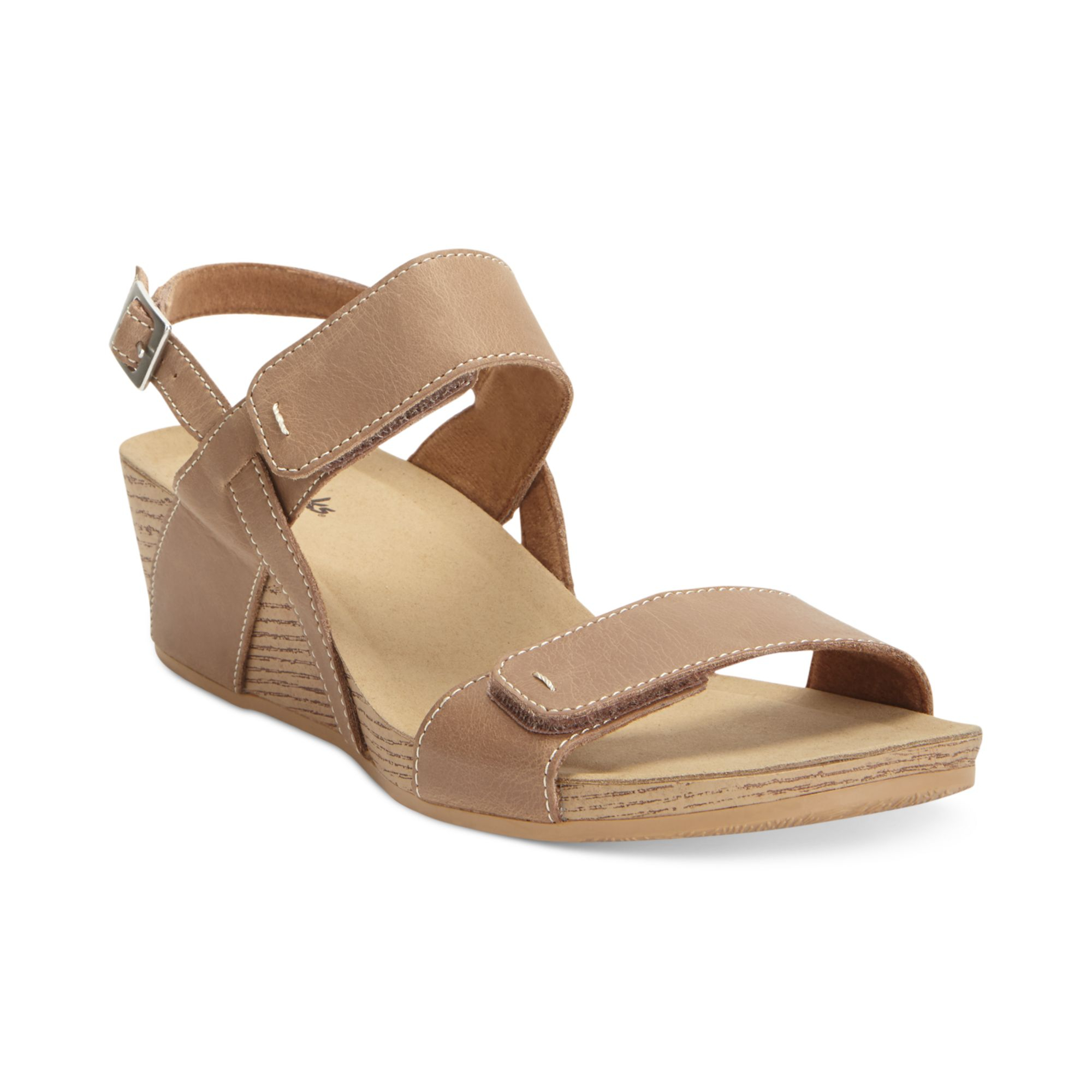 005c5228ee12 Lyst - Clarks Alto Disco Platform Wedge Sandals in Natural