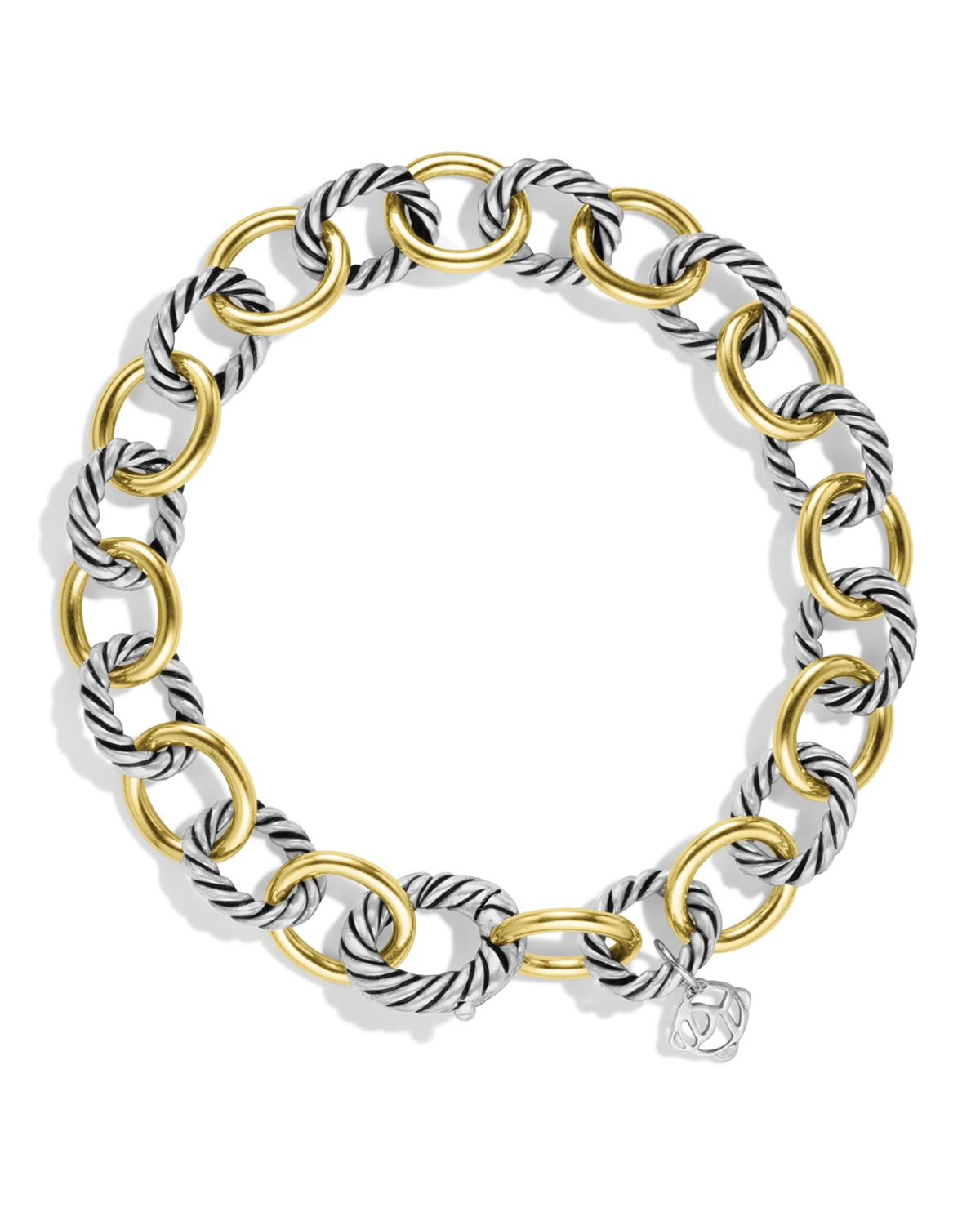 david yurman oval link bracelet david yurman oval link bracelet with gold in metallic lyst 4939