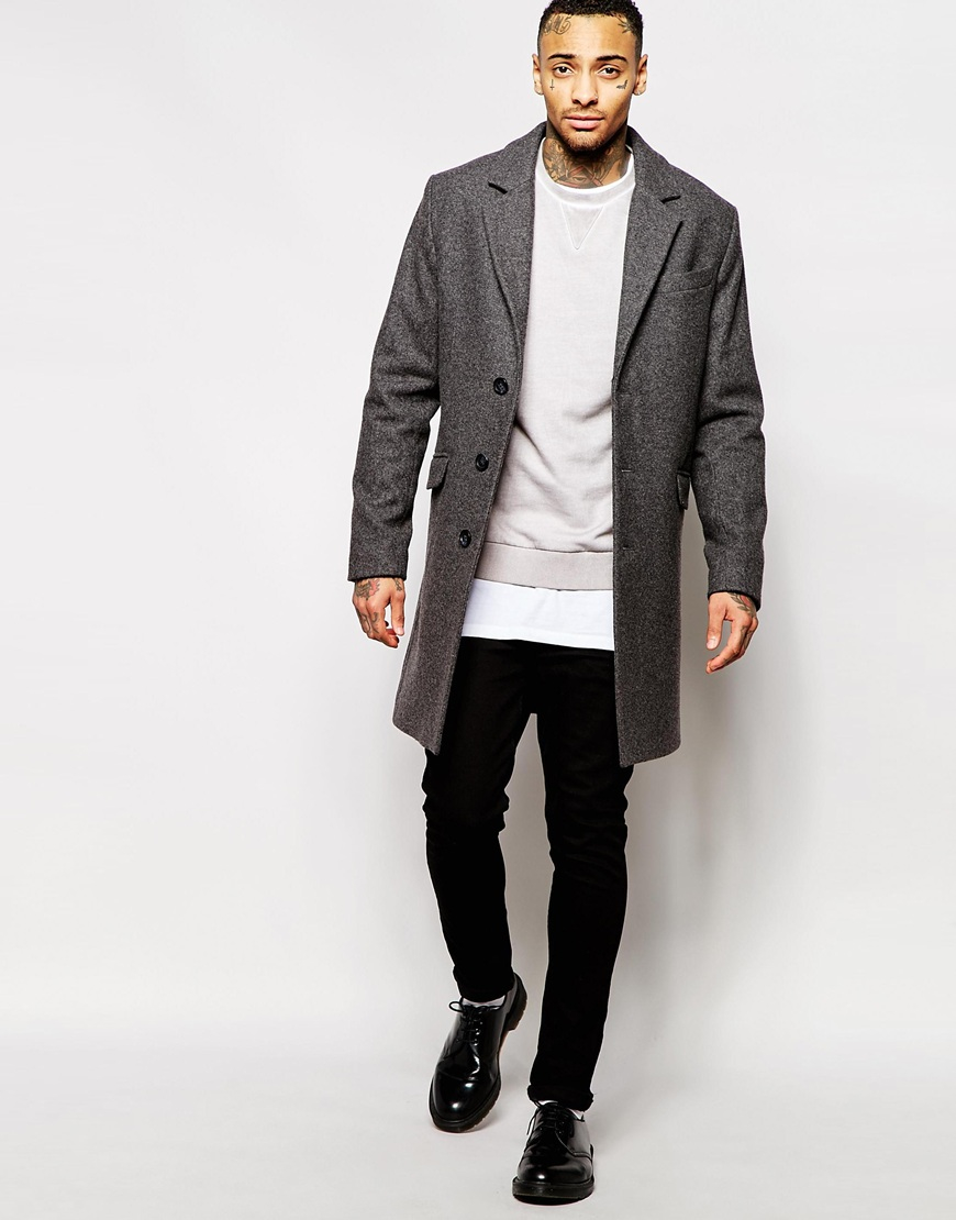 Asos wool overcoat
