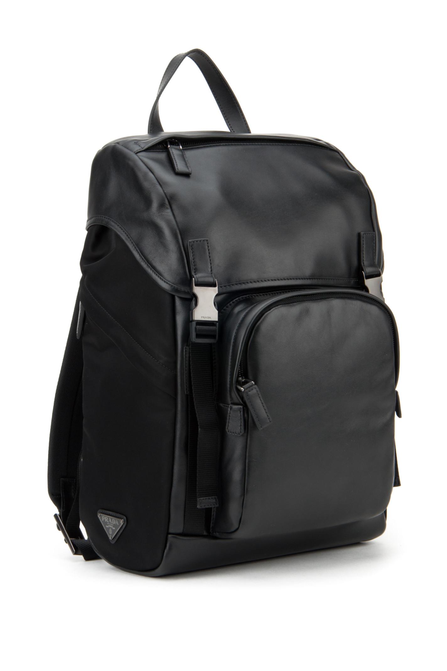 replica of prada handbags - prada soft calf rucksack