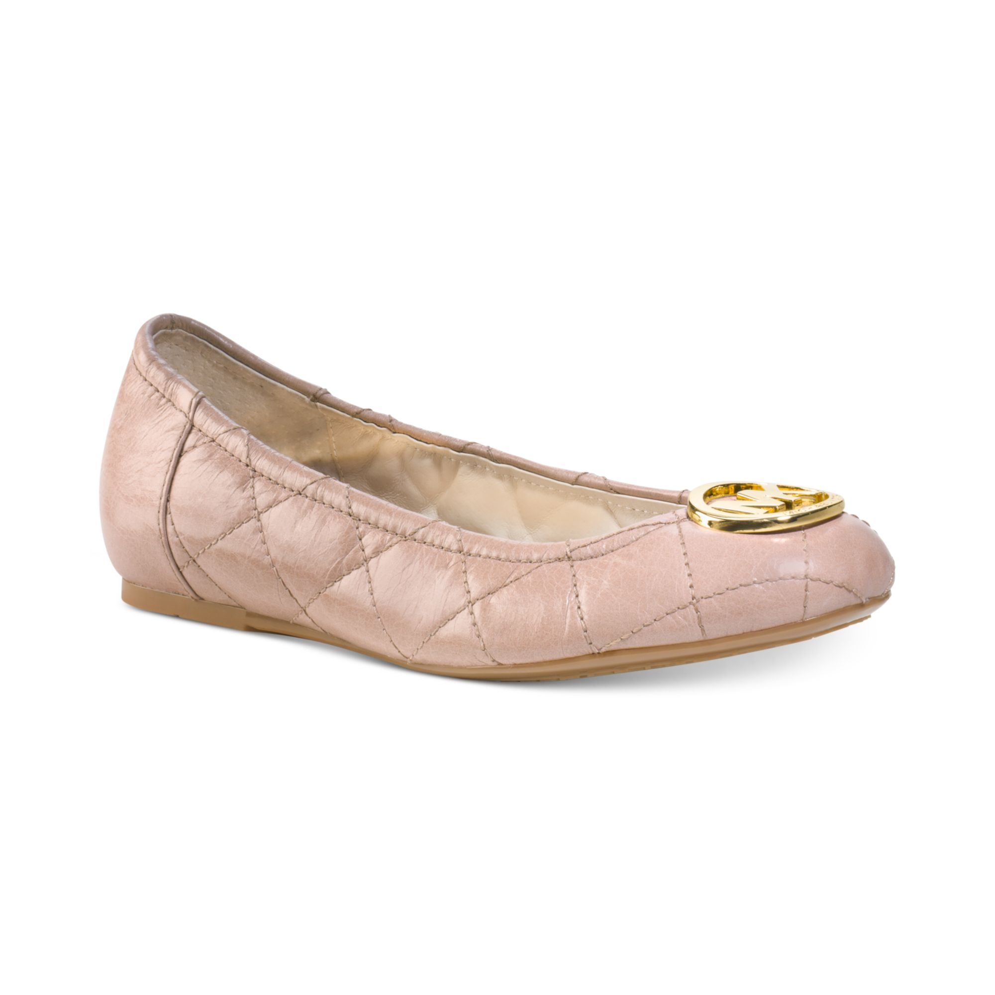 38b000c2e2f1 Michael Kors Fulton Quilted Leather Ballet Flats - Best Quilt ...