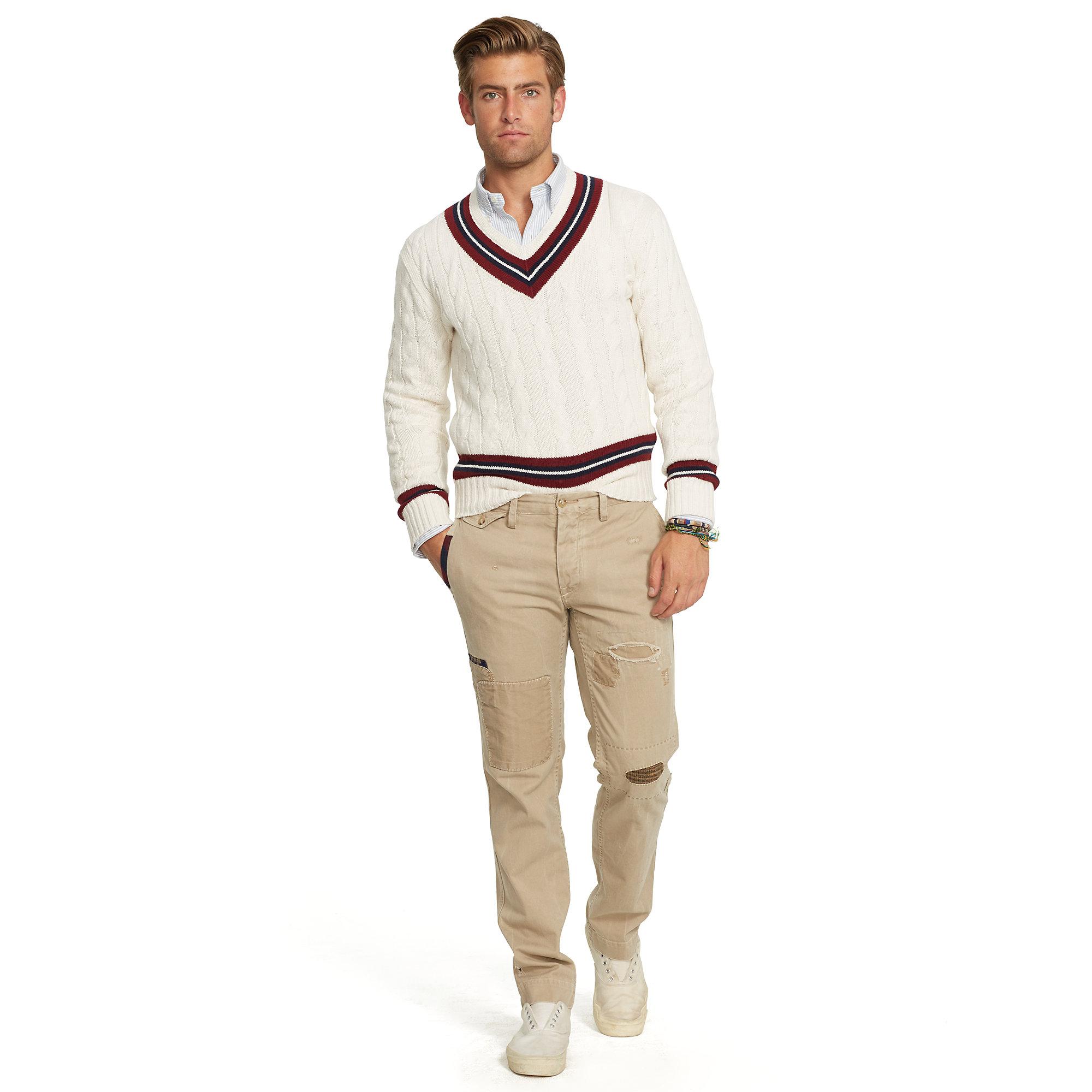 Lyst Polo Ralph Lauren Cotton Blend Cricket Sweater In