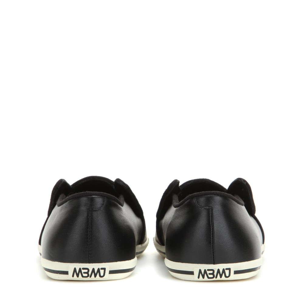 Marc By Marc Jacobs Woman Carter Perforated Leather Sneakers Black Size 40 Marc Jacobs 5RwX9rsgq